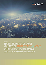Secure transfer of large volumes of sensitive intelligence within a high-performance counterterrorism network.